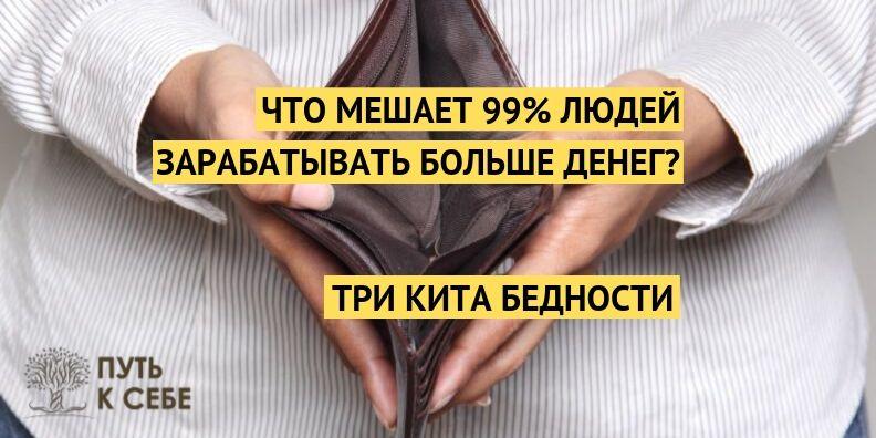Сергей Рябой три кита бедности