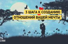 3 шага к созданию отношений вашей мечты.
